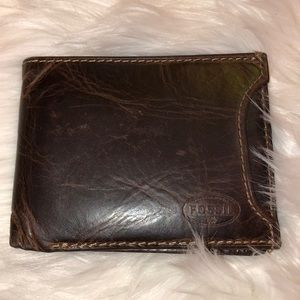 Fossil Men's Leather Wallet Very Good Condition